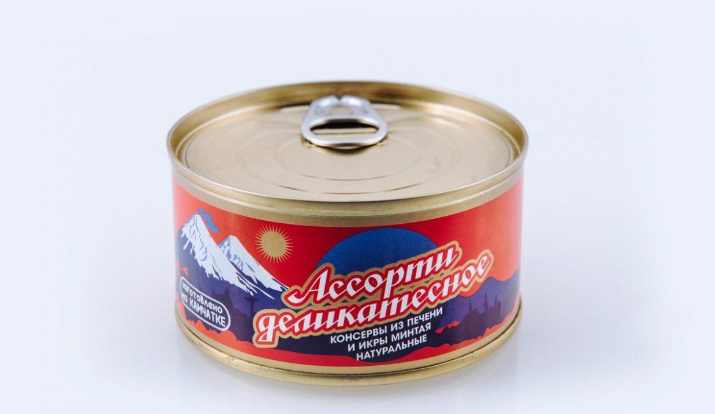 Ассорти деликатесное из печени и икры минтая
