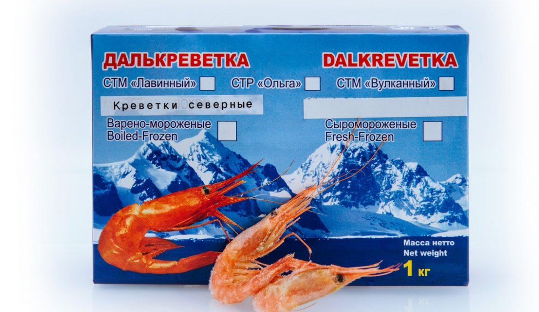 Креветка северная варено-мороженая 70/90
