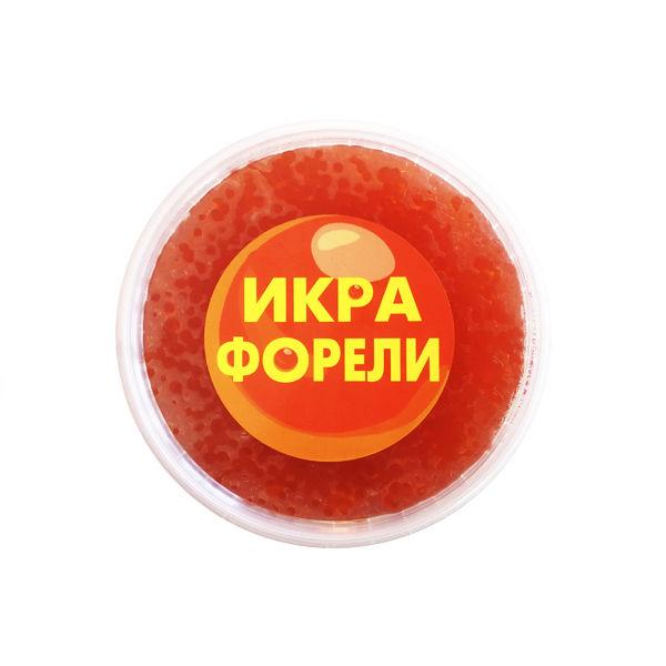 Икра лососевая зернистая, соленая, форель, Россия (1 кг)