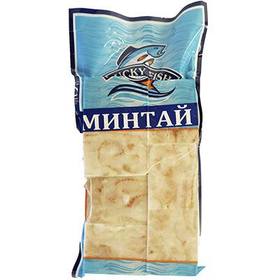 Минтай(филе без кожи), кубики,кг.